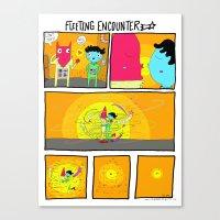 Fleeting Encounter Canvas Print