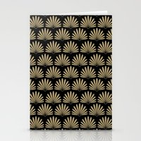 Tan & Black Daisies Stationery Cards