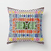 Geometric Drawing Medita… Throw Pillow