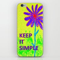 Wildflower Keep It Simple iPhone & iPod Skin