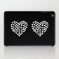Hearts Heart x2 Black iPad Case