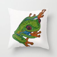 Stick Throw Pillow
