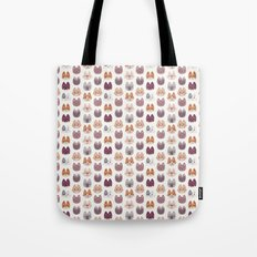 Cute Kitty Cat Faces Pattern Tote Bag