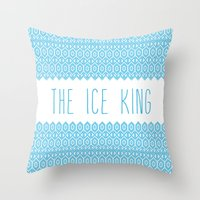 the ice king pattern...mathamatical! Throw Pillow