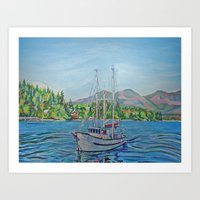 The Murralet At Winter Harbour Art Print