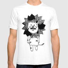 lion SMALL Mens Fitted Tee White