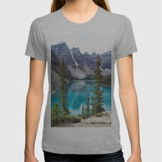 Moraine Lake Womens Fitted Tee Athletic Grey SMALL