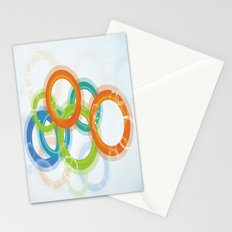 Digital Geometric Circles Stationery Cards