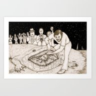 Another Beached Creature Art Print
