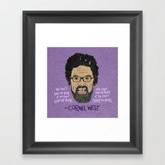 CORNEL WEST Framed Art Print