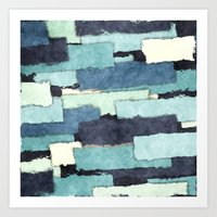 Layers of Colors Pattern Art Print