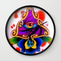 Clarity Pends On Angle O… Wall Clock
