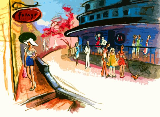 Pickering Wharf Art Print