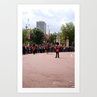 The Guards With Their Ho… Art Print
