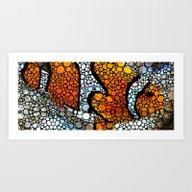 Stone Rock'd Clown Fish … Art Print