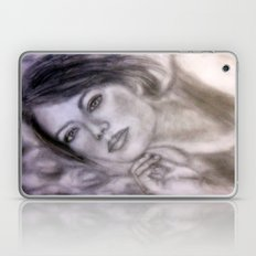 Pencil Portrait Drawing  - American Actress - Emma Stone Laptop & iPad Skin
