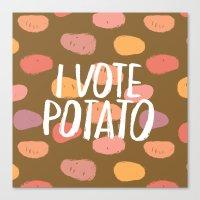 I Vote Potato Canvas Print