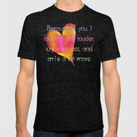 You Make me Smile Mens Fitted Tee Tri-Black SMALL