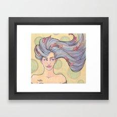 Tattooed Mermaid 7 Framed Art Print