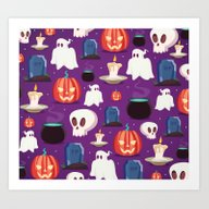 Art Print featuring HALLOWEEN4 by Ceren Aksu Dikenci