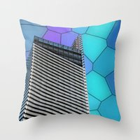 Gran Via Alien Wiew Throw Pillow