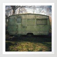 Caravan Art Print