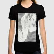 White Elephant Womens Fitted Tee Black SMALL