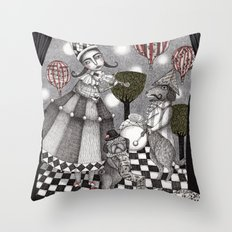 Alice's After Tea Concer… Throw Pillow