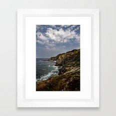 Where ocean meets land Framed Art Print