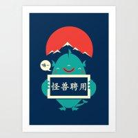 monster for hire Art Print