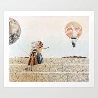 Trip To The Moon, Collag… Art Print