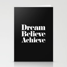 Dream, Believe, Achieve Stationery Cards