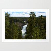 Upper Falls - Yellowstone National Park Waterfall  Art Print