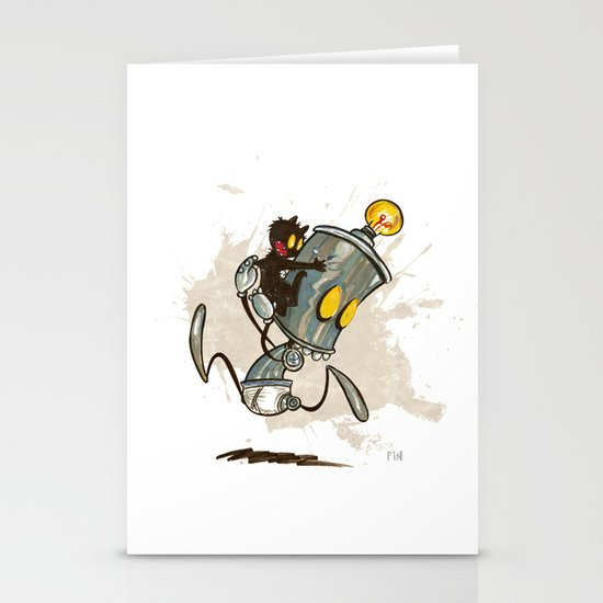 Ahhhh! Run Faster!  Stationery Card