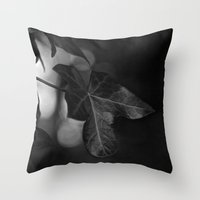 One Colour Leaf Throw Pillow