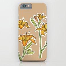 Orange lilies iPhone 6s Slim Case