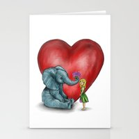 Pachyderm's  Bouquet Stationery Cards
