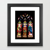 Stained-glass Window Framed Art Print