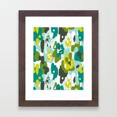 Painted Camo Framed Art Print