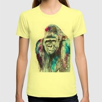 Gorilla Womens Fitted Tee Lemon SMALL