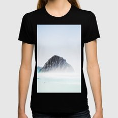 Foreign still Womens Fitted Tee Black SMALL