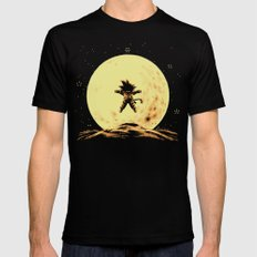 Full Moon Black SMALL Mens Fitted Tee