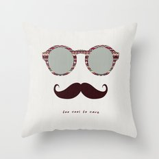 je m'en fous #2 Throw Pillow