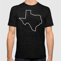 Ride Statewide - Texas Mens Fitted Tee Tri-Black SMALL