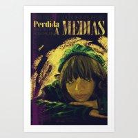 Perdida A Medias Movie P… Art Print
