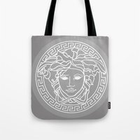 Versace Grey Tote Bag