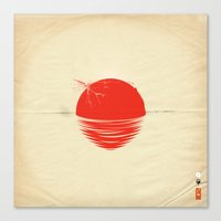 Japan Relief Poster/all … Canvas Print