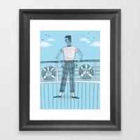 Sailor On Deck Framed Art Print