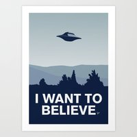 My X-files: I want to believe poster Art Print