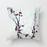Red Freeze Throw Pillow